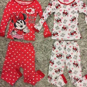 2 Pairs Minnie Mouse Pajamas